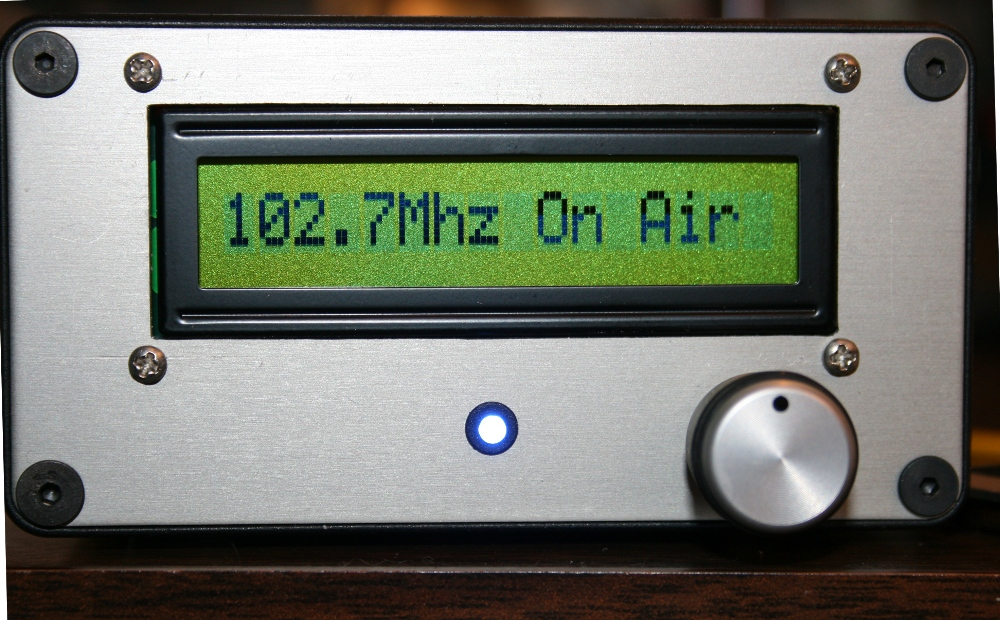 FM Stereo Broadcaster - Front Panel
