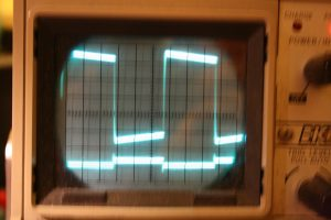 6AB4 Output, Square wave