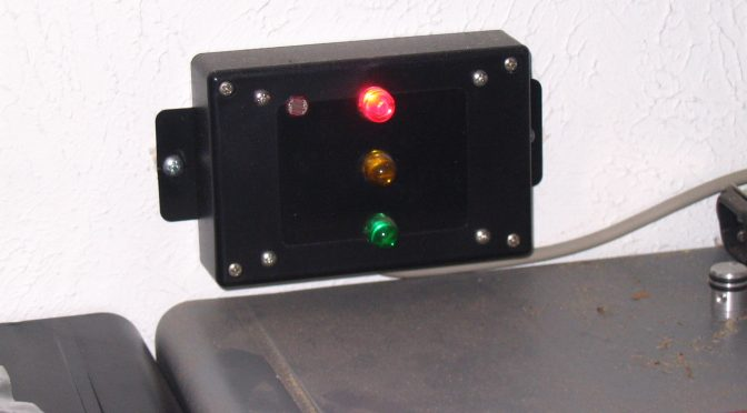 Garage Sensor Head Unit with Green, Amber, and Red LEDs