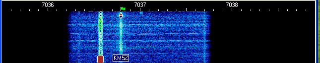 PSK31 Waterfall from QSO with VE3NOO.